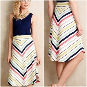 Maeve Rainbow Chevron Skirt